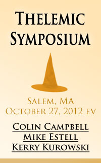 Thelemic Symposium in Salem Massachusetts, featuring panelists Colin Campbell, Mike Estell, and Kerry Kurowski